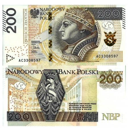 "2015 * Banknote Poland 200 Zlotych ""Zygmunt I Stary"" (p189) UNC"