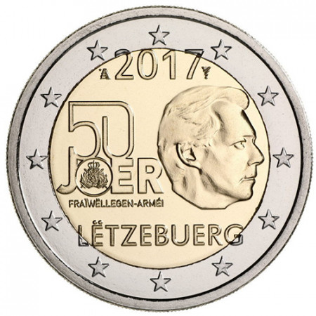 """2017 * 2 Euro LUXEMBOURG """"Current Luxembourg Army"""" UNC"""
