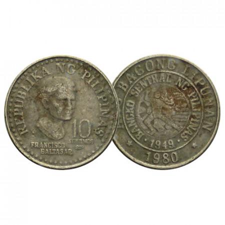 "1979-82 * 10 Sentimos Philippines ""Francisco Baltazar"" (KM 226) F/VF"