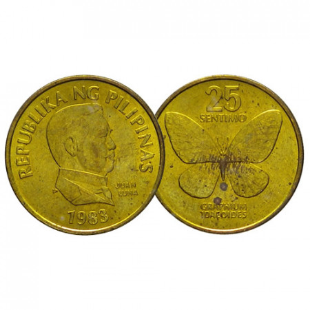 "1983 * 25 Sentimos Philippines ""Butterfly"" (KM 241.1) UNC"