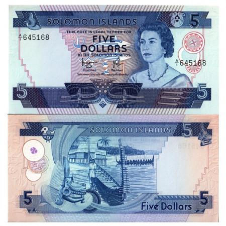 "ND (1977) * Banknote Solomon Islands 5 Dollars ""Elizabeth II"" (p6b) UNC"