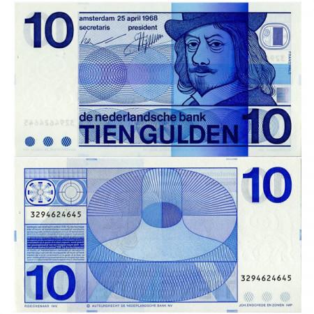 "1968 * Banknote Netherlands 10 Gulden ""Frans Hals"" (p91b) UNC"