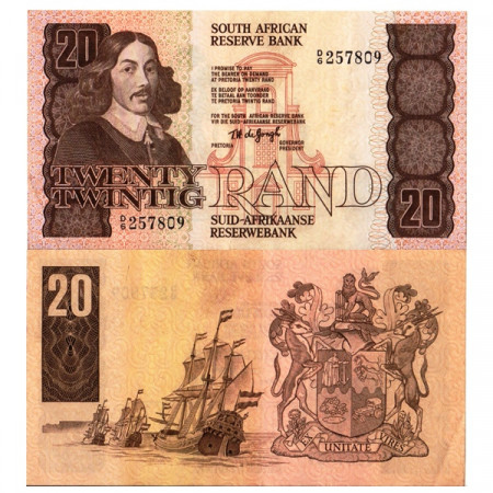 "ND (1978-81) * Banknote South Africa 20 Rand ""Jan van Riebeeck"" (p121a) XF"