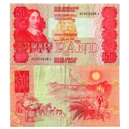 "ND (1984) * Banknote South Africa 50 Rand ""Jan van Riebeeck"" (p122a) VF"