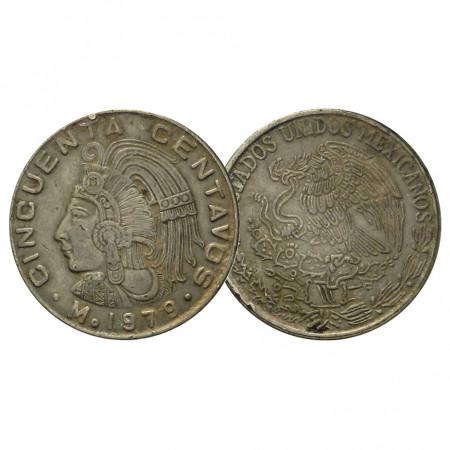 """1979 * 50 Centavos Mexico """"Cuauhtémoc"""" (KM 452) VF"""