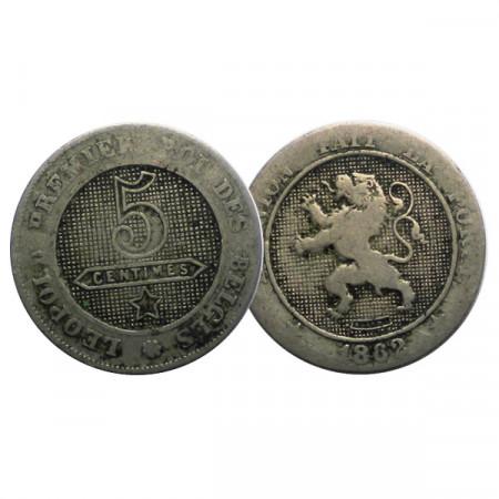 "1862 * 5 Centimes Belgium ""Leopold I"" (KM 21) F"