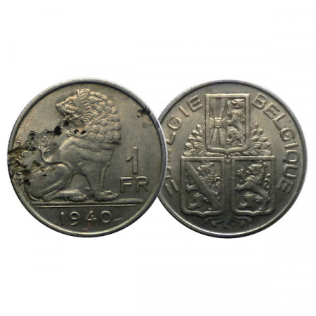 "1940 * 1 Franc Belgium ""Leopold III"" (KM 120) F"