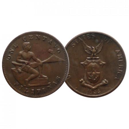 "1944 S * 1 Centavo Philippines ""U.S. Administration"" (KM 179) VF/XF"