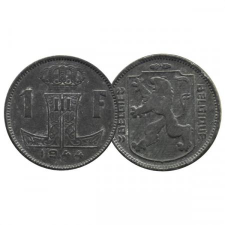 "1944 * 1 Franc Belgium ""Leopold III"" (KM 128) XF"