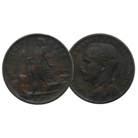 "1915 R * 1 Centesimo Copper Italy ""Victor Emmanuel III - Prora"" (KM 40) VF+"