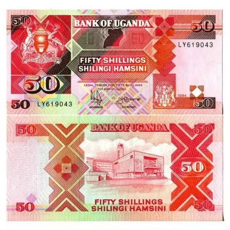 "1994 * Banknote Uganda 50 Shillings ""Parliament Building"" (p30c) UNC"