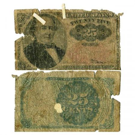 "1863 * Banknote United States of America 25 Cents ""Robert John Walker"" (p123) G"