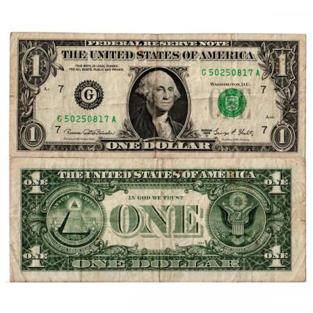 "1969 D * Banknote United States of America 1 Dollar ""Washington - G7 Chicago"" (p449e) F"