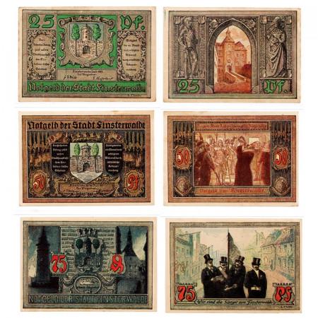 "1921 * Set 3 Notgeld Germany 25 . 50 . 75 Pfennig ""Brandenburg - Finsterwalde N.L."" (362)"