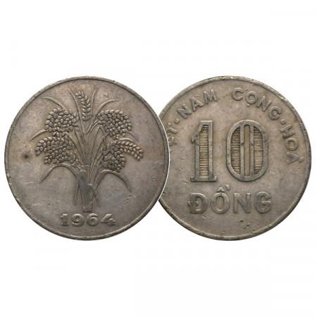 "1964 * 10 Dong South Vietnam ""Rice Stalks"" (KM 8) VF"