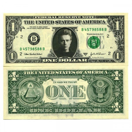 "2003 A * Banknote United States 1 Dollar ""Celebrity  - James Dean"" (pCL2) UNC"