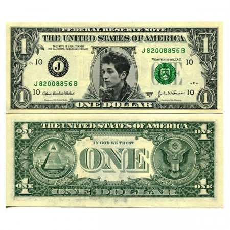 """2003 A * Banknote United States 1 Dollar """"Celebrity  - Bob Dylan"""" (pCL4) UNC"""