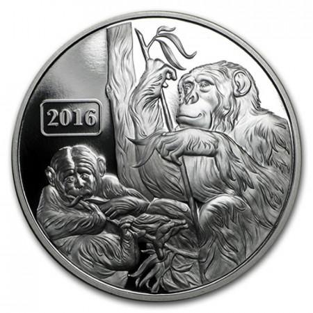 "2016 * 5 Dollars Silver 1 OZ Tokelau ""Year of the Monkey"" PROOF"