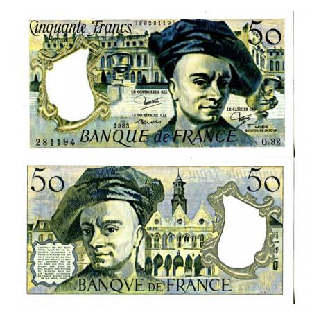 """1983 * Banknote France 50 Francs """"M Quentin de la Tour"""" (p152b) UNC"""