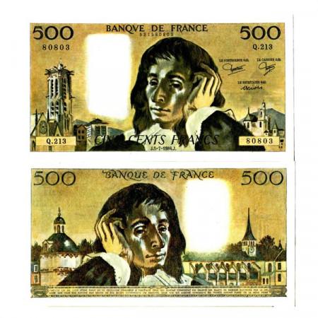 """1984 * Banknote France 500 Francs """"Blaise Pascal"""" (p156e) UNC"""