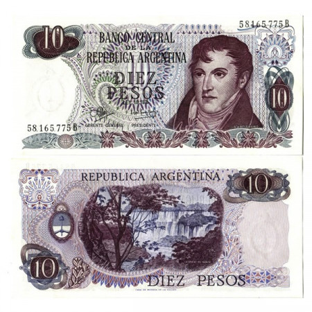 "ND (1970-73) * Banknote Argentina 10 Pesos ""M Belgrano"" (p289) UNC"