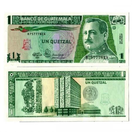 """1990 * Banknote Guatemala 1 Quetzal """"General JM Orellana"""" (p73a) UNC"""