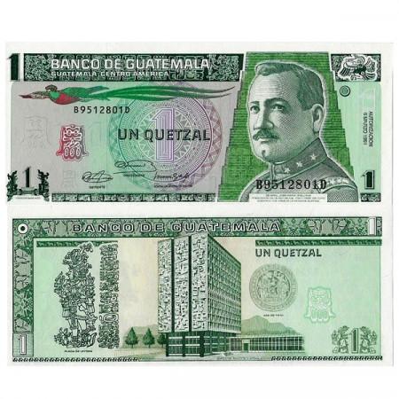 """1991 * Banknote Guatemala 1 Quetzal """"General JM Orellana"""" (p73b) UNC"""