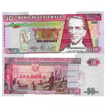 "1990 * Banknote Guatemala 10 Quetzales ""General MG Granados"" (p75b) UNC"
