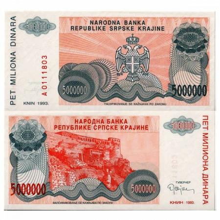 "1993 * Banknote Croatia 5 Million - 5.000.000 Dinara ""Krajina - Knin"" (pR24) UNC"