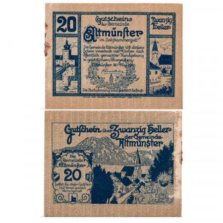 "1920 * Notgeld Austria 20 Heller ""Upper Austria - Altmünster"" (FS 34a)"