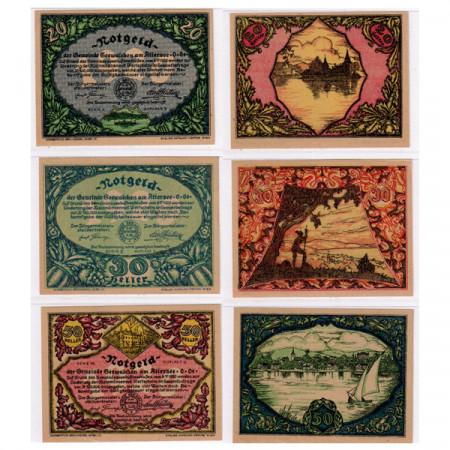 "1920 * Set 3 Notgeld Austria 20 . 30 . 50 Heller ""Upper Austria - Attersee"" (FS 988a)"