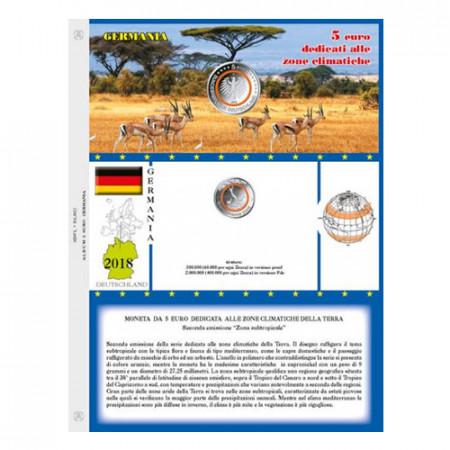 "2018 Sheet + Pochet 5 Euro GERMANY ""Subtropical Area"" * ABAFIL"