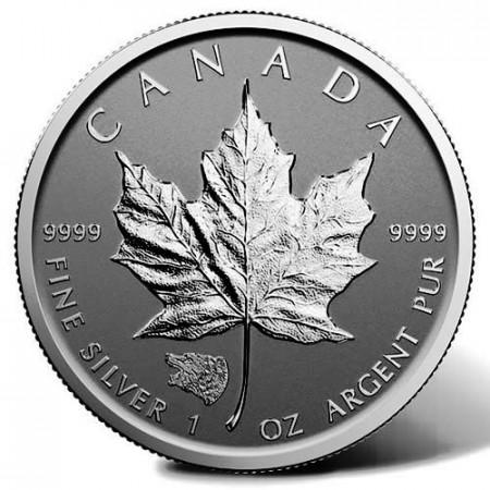 """2016 * 5 Dollars Silver 1 OZ Maple Leaf Canada """"Grizzly Bear"""" Privy Mark"""