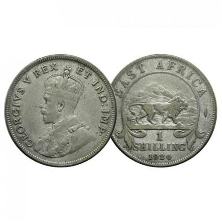 "1924 * 1 Shilling Silver British East Africa ""George V"" (KM 21) VF"