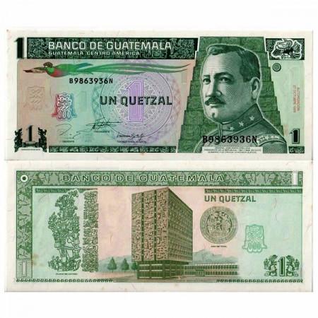 """1993 * Banknote Guatemala 1 Quetzal """"General JM Orellana"""" (p87a) aUNC"""