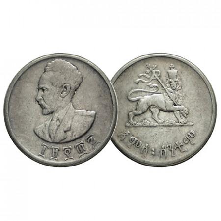 "EE1936 (1943-44) * 50 Cents Silver Ethiopia ""Hailé Selassié"" (KM 37) VF"