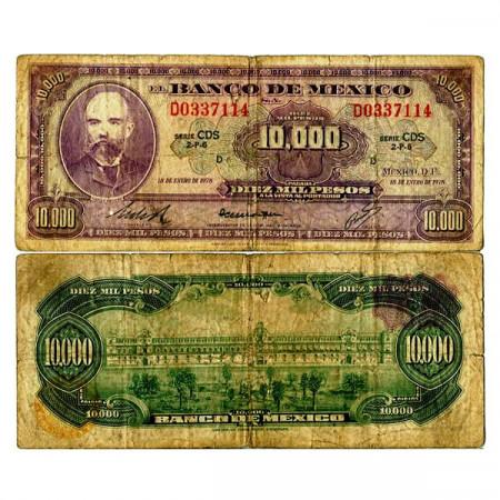 "1978 * Banknote Mexico 10.000 Pesos ""Matías Romero"" (p72) G"