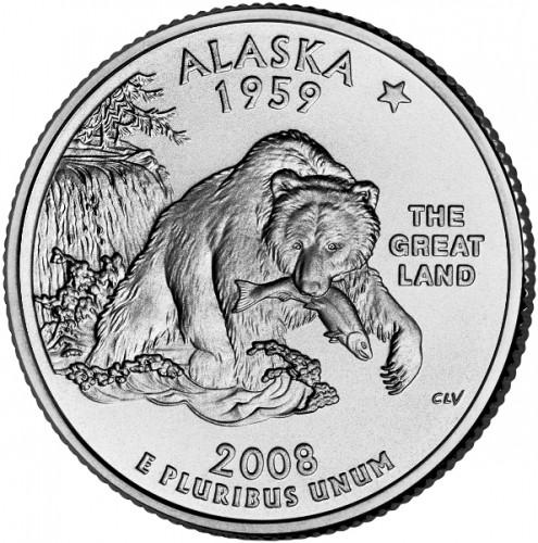 """2008 D Alaska State Quarter New U.S Mint /""""Brilliant Uncirculated/"""" Coin"""