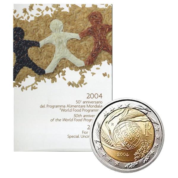 2004 2 Euro Italy World Food Programme Coincard Mynumi