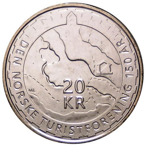 """Norway 20 kroner 2018 /""""Trekking Association/"""" UNC"""