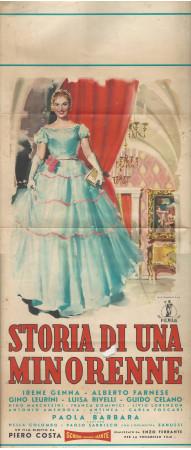 """1956 * Affiches De Cinéma """"Storia di una Minorenne - Alberto Farnese, Irene Genna, Livio Lorenzon"""" Drame (C)"""