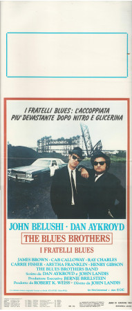 "1980 * Affiches De Cinéma ""The Blues Brothers - Dan Aykroyd, John Belushi"" Musical (B+)"