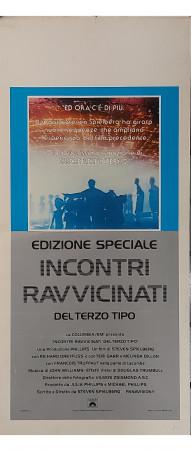 """1977 * Affiches De Cinéma """"Incontri Ravvicinati del Terzo Tipo - Edizione Speciale - Steven Spielberg"""" Fantastique (B)"""