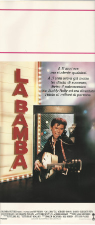 """1987 * Affiches De Cinéma """"La Bamba - Ritchie Valens"""" Music (B+)"""