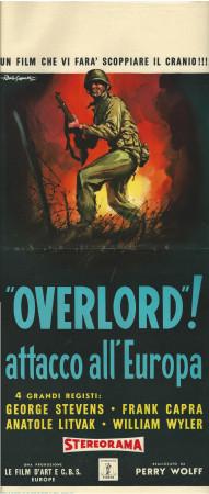 "1961 * Affiches De Cinéma ""Overlord! Attacco all''Europa - Frank Capra"" Guerre (B)"