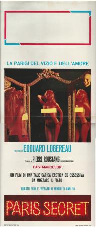 """1968 * Affiches De Cinéma """"Paris Secret - Edouard Logereau"""" Érotique (B)"""