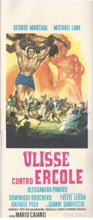 """1962 * Affiches De Cinéma """"Ulisse Contro Ercole - Georges Marchal, Mario Caiano"""" Peplum (B+)"""