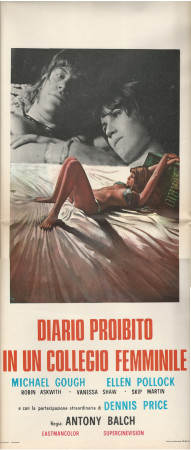 """1973 * Affiches De Cinéma """"Diario Proibito di un Collegio Femminile - A Balch"""" Horror (B+)"""
