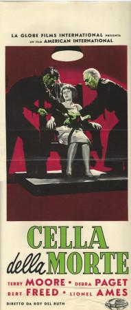 "1960 * Affiches De Cinéma ""Cella della Morte - T Moore, D Paget"" Drame (B-)"