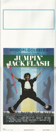 "1987 * Affiches De Cinéma ""Jumpin' Jack Flash - Whoopi Goldberg"" Comedy (B+)"